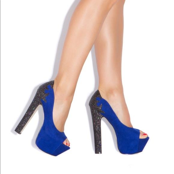 e6f6ac0cea33 Shoe Dazzle Shoes Electric Blue Shoe Dazzle Platforms Color